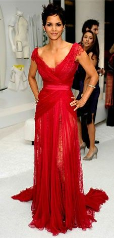 Halle Berry in Red dress