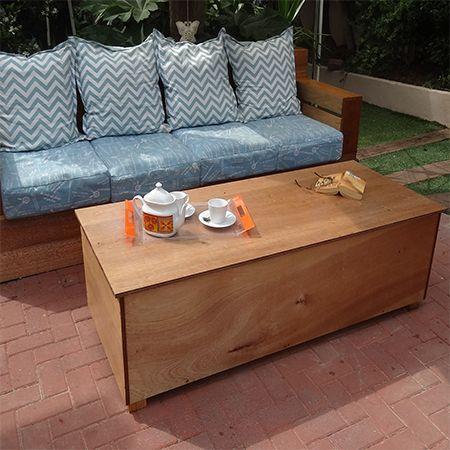 Plascon Sunproof Varnish On Marine Plywood Outdoor Storage Coffee Table