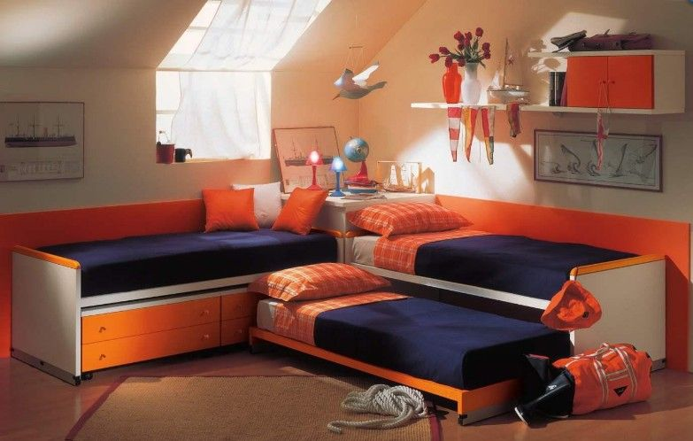 Best 3 Kids No Bunk Beds Small Room Bedroom Girl Bedroom 400 x 300