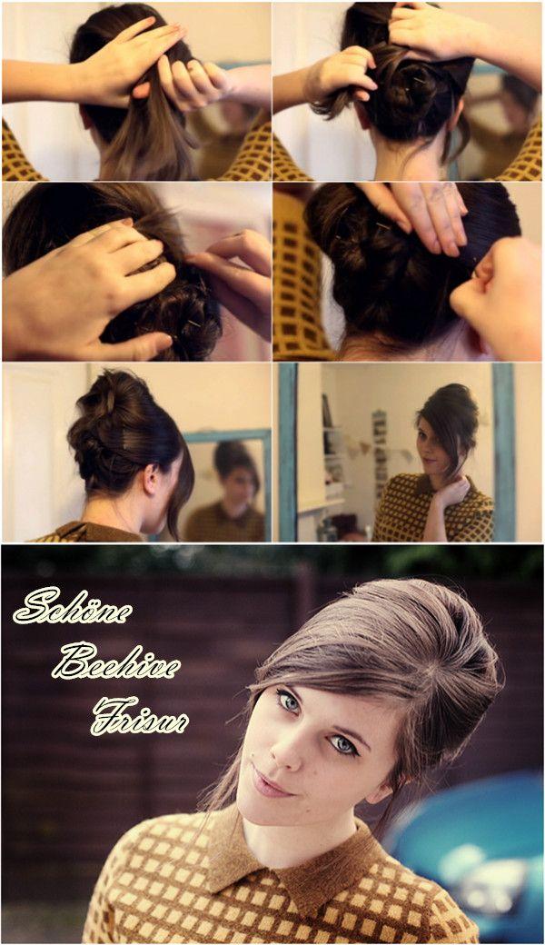 Festliche Haarstylings Frisuren Fur Weihnachten Und Silvester Beehive Frisur Beehive Frisur Anleitung Frisuren