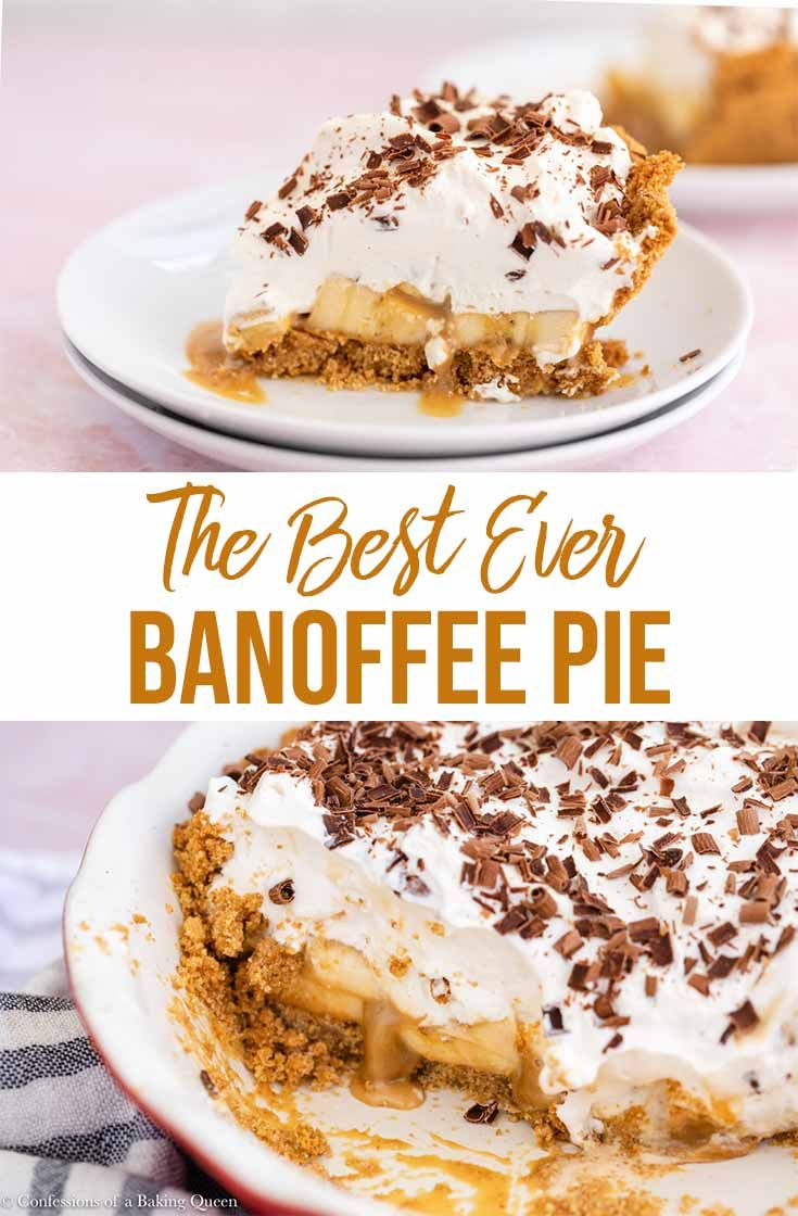 Homemade English Banoffee Pie- Confessions of a Baking Queen #sweetpie