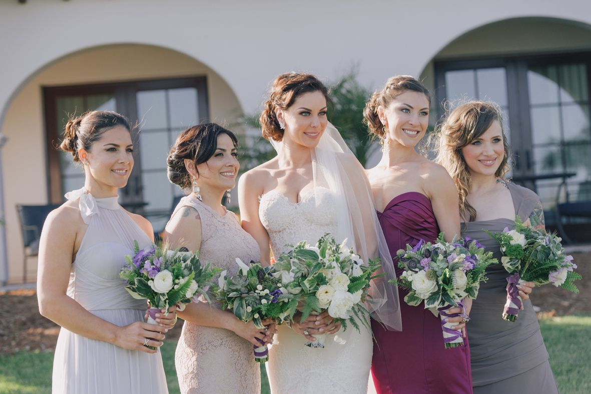 Mismatched bridesmaid dresses for trendsetting brides ombrellifo Choice Image