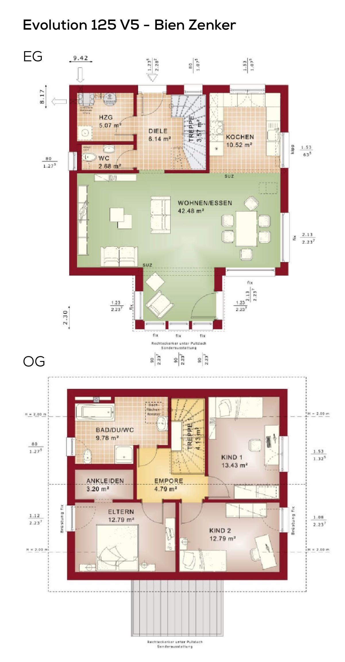 Grundriss Einfamilienhaus Quadratisch Mit Satteldach Wintergarten
