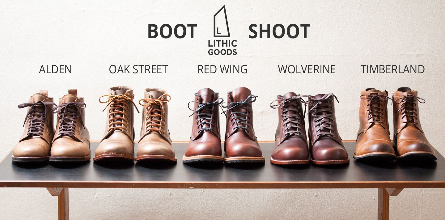 394905ca43e Comparing Alden Cap Toe Boots, Oak Street Cap Toe Boots, Red Wing ...