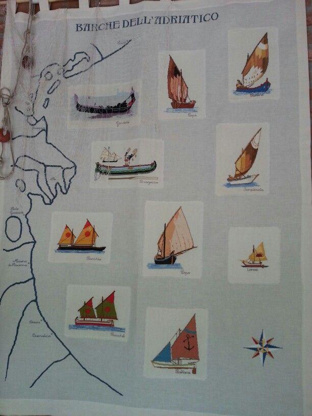 Imbarcazioni d epoca sul mare Adriatico