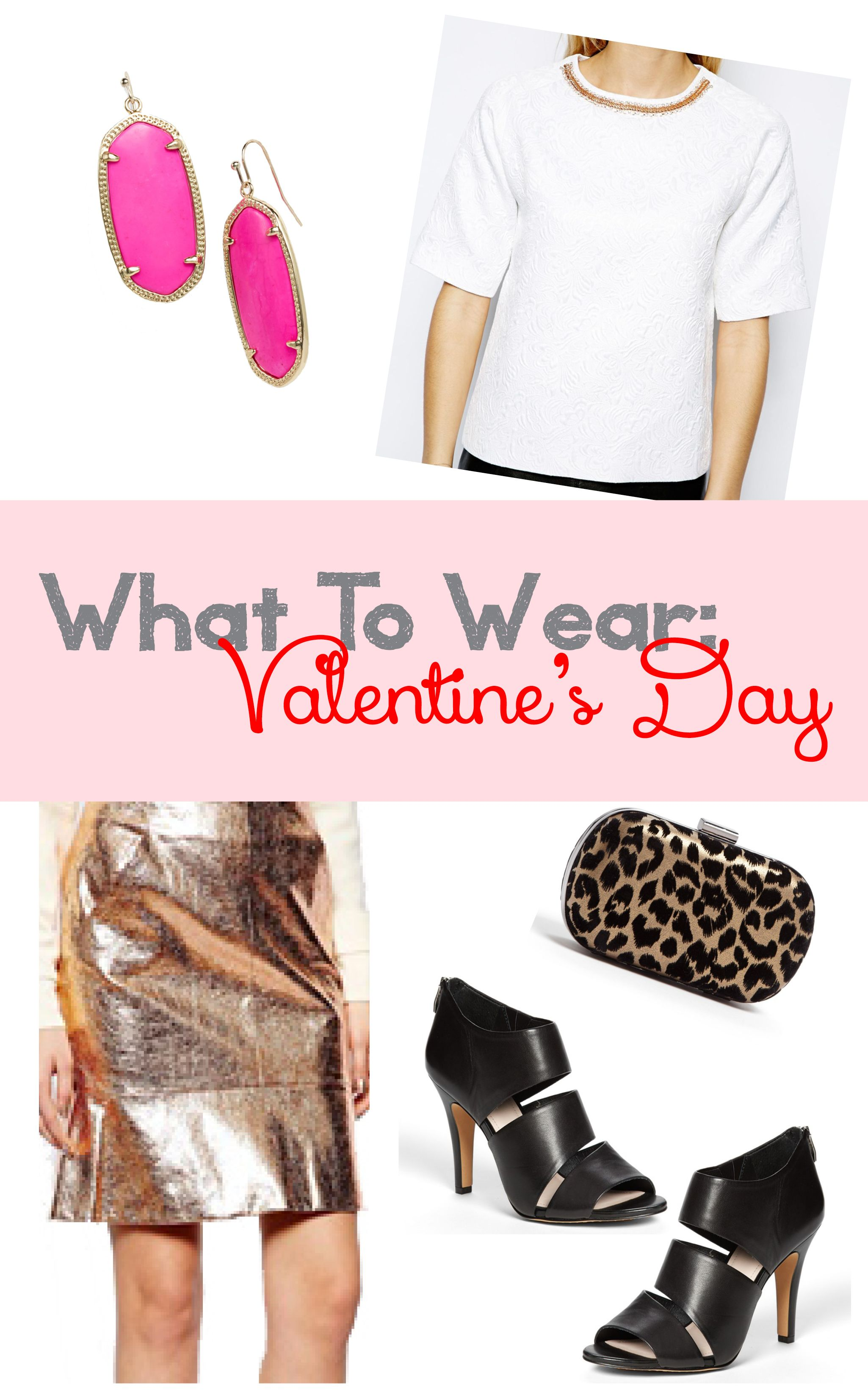 What To Wear: Valentine's Day Outfit #metallic #leopard #neon