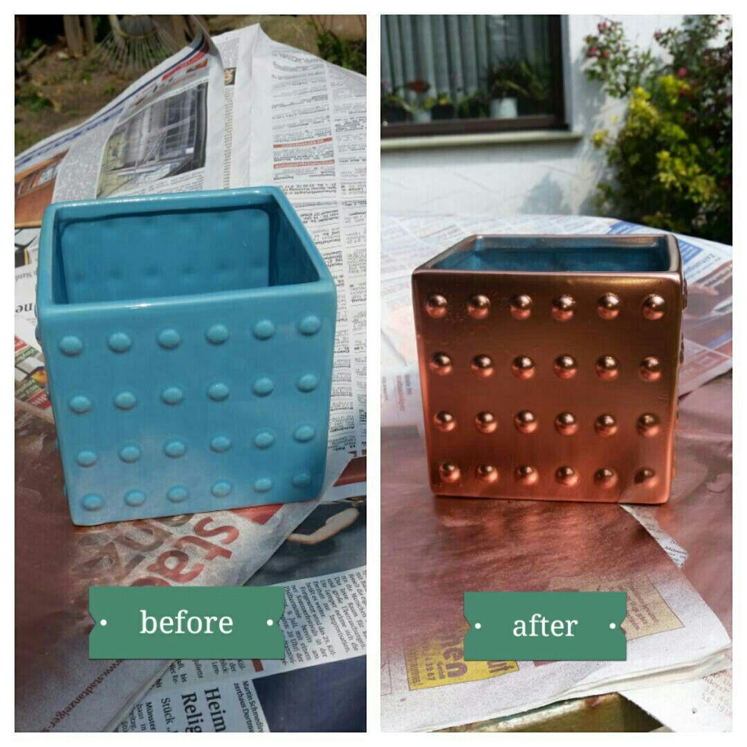 before and after ... Used spray-paint