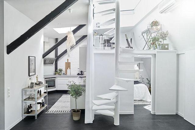 Combles : des idées d\'aménagement | Small spaces, Attic and Open plan