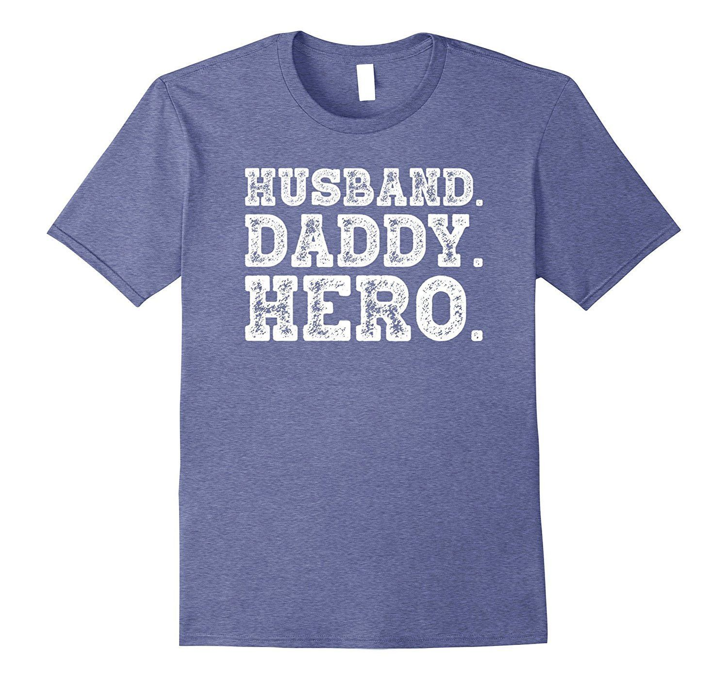 Husband Daddy Hero Novelty T-Shirt | Hero, Heather grey and Products