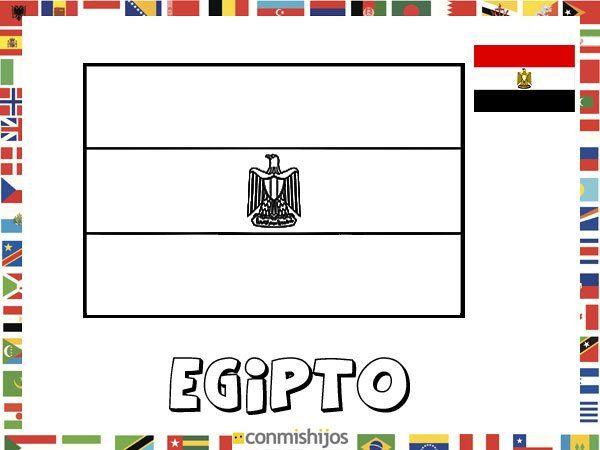 Pintar NiÑos Del Mundo: Bandera De Egipto. Dibujos De Banderas Para Pintar