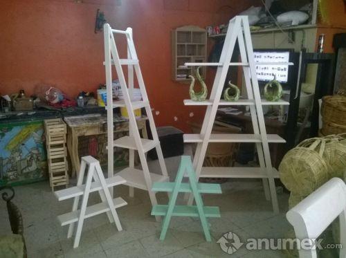 Escalera para candy bar estilo vintage accesorios para for Escalera madera adorno