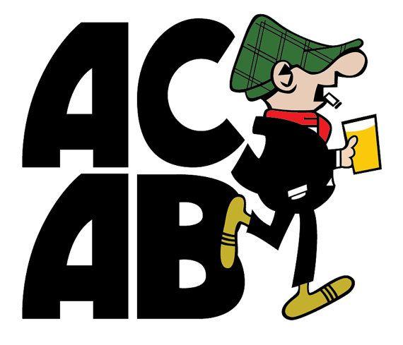A.C.A.B. Andy Capp Hooligan Sticker