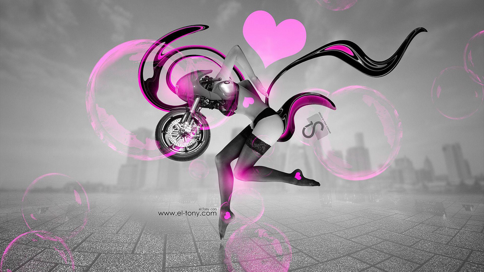 Http://www.el Tony.com/wp Content/uploads/2014/01/Moto BMW R90S Fantasy  Sexy Girl 2014 Pink Neon HD Wallpapers Design By Tony Kokhan Www.el Tony.cou2026