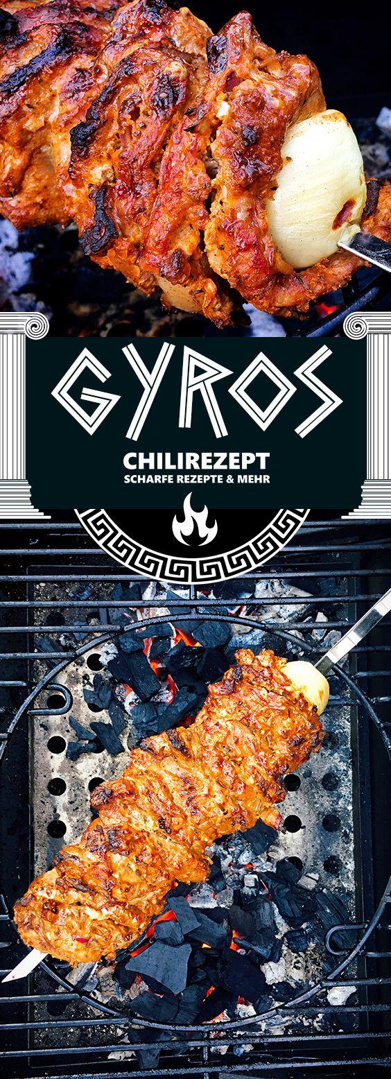 Gyros vom Grill Rezept | Gyrosspieß selber machen