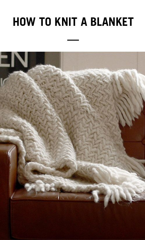 learn how to knit a cosy woollen blanket in next to no time using wool and the gang 39 s crazy sexy. Black Bedroom Furniture Sets. Home Design Ideas