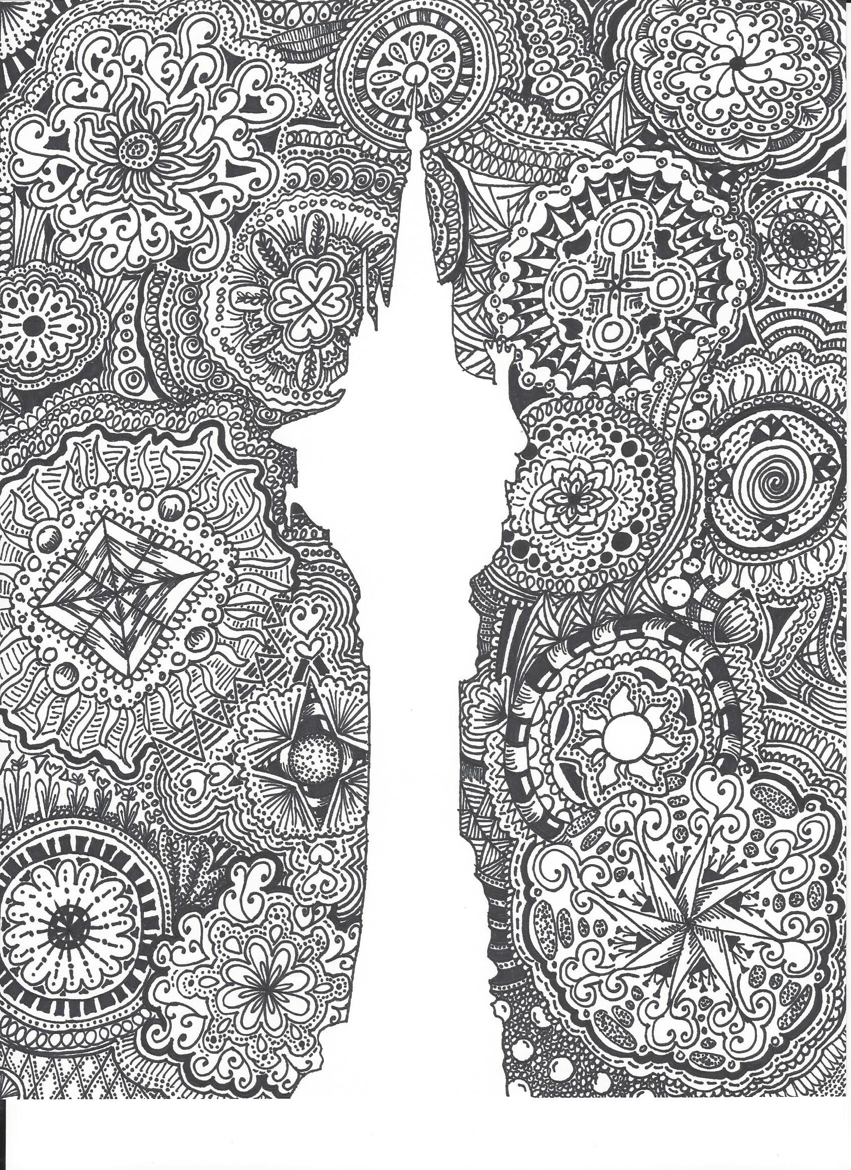 Disney Zentangle Coloring Pages Background