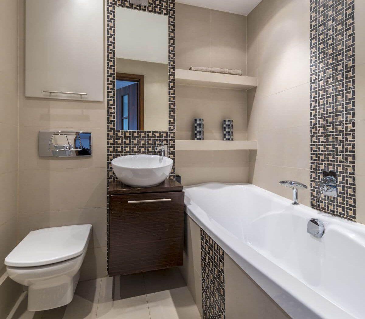 Simple Bathroom, Modern Small