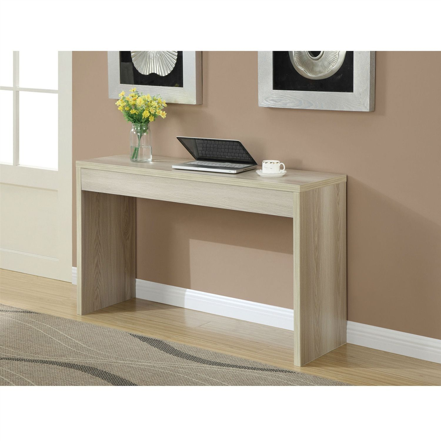 Modern White Sofa Table Sitting Room Sets Contemporary Console In Weathered