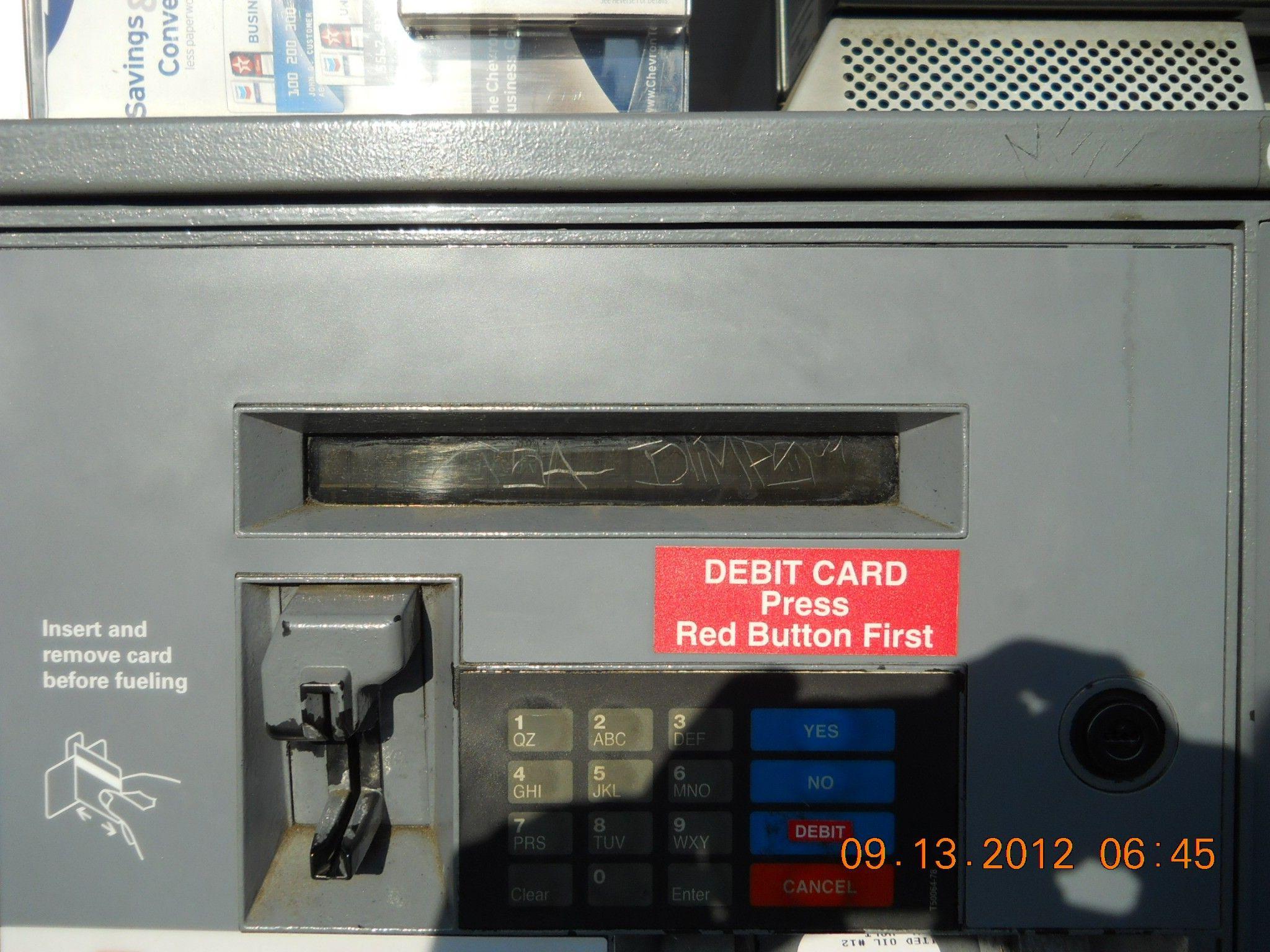 Gas pump card reader display damage glass repair gas