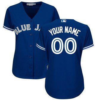 f6f7f3b3efd Toronto Blue Jays Majestic Women s Alternate Cool Base Custom Jersey - Royal