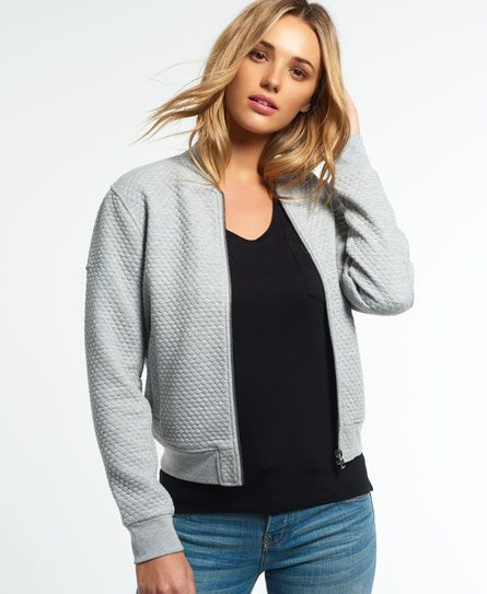 Superdry Micro Quilt Bomber Grey Autumn Winter Style Pinterest