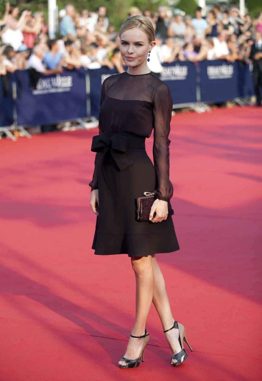 Kate Bosworth in the perfect black dress | ropa juvenil | Pinterest ...