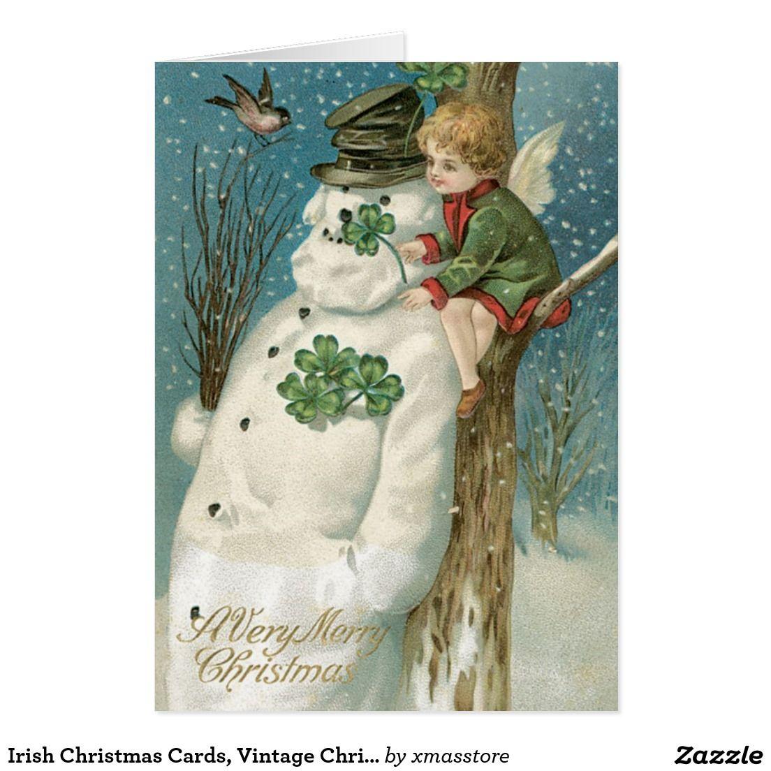 Irish Christmas Cards, Vintage Christmas Holiday Card | Christmas ...