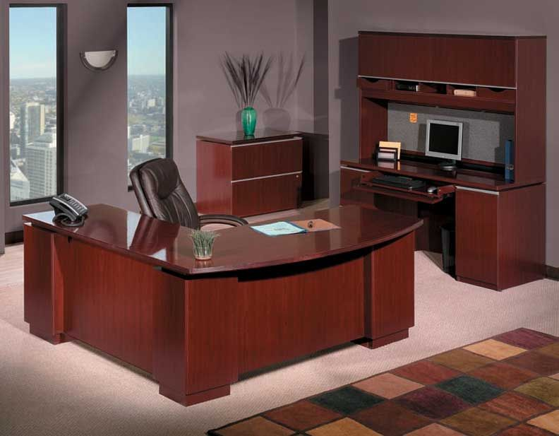 Superb New 4Pc L Shaped Executive Office Desk Set Bs Mil L1 H2O Home Interior And Landscaping Synyenasavecom
