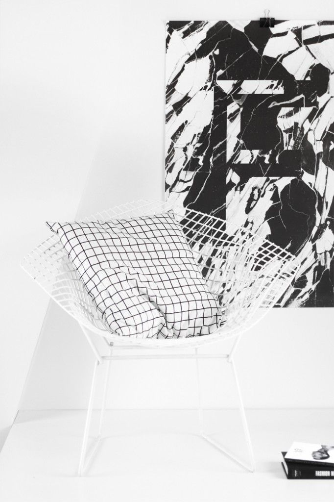 Harry Bertoia Diamond Chair Playtype Faux Marble Poster Square