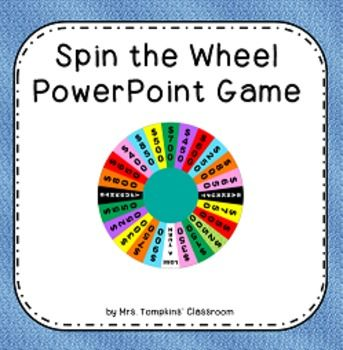 tv game show powerpoint templates - spin the wheel game wheel of fortune inspired powerpoint