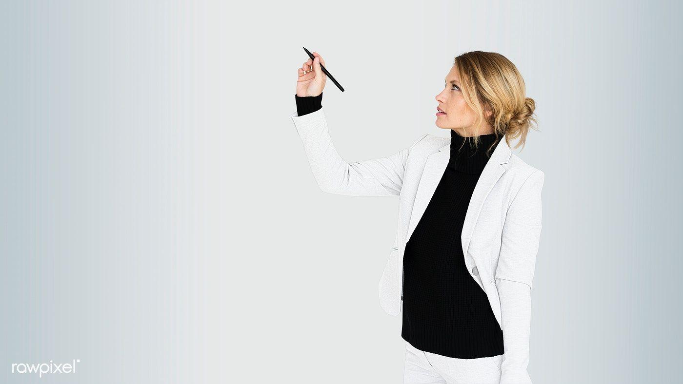 Download premium psd of businesswoman coaching a seminar