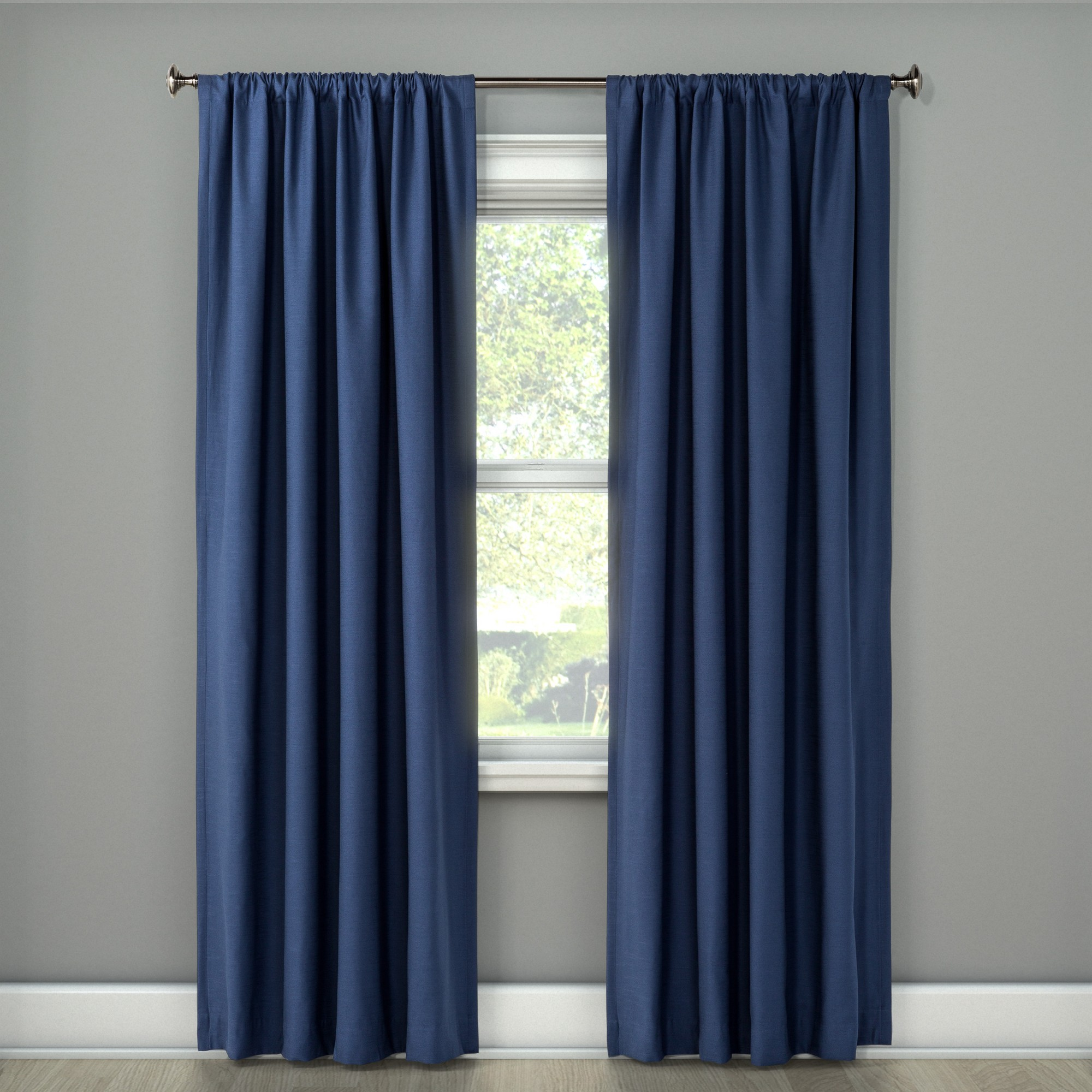 Blackout Curtain Panel Henna Blue 108 Project 62 Blue Willow