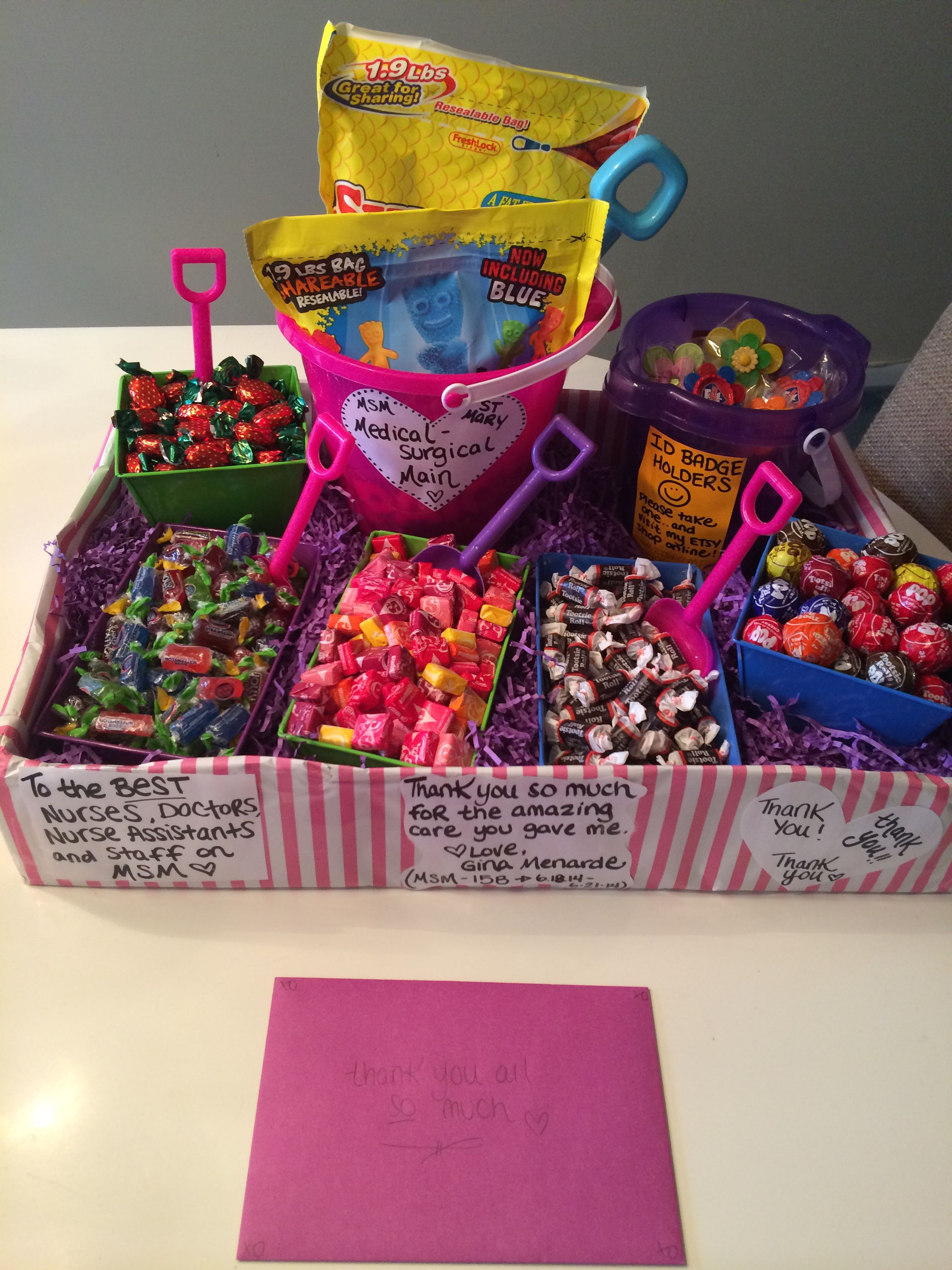 Thank you gift for nurses station !!! | NURSE | Pinterest ...