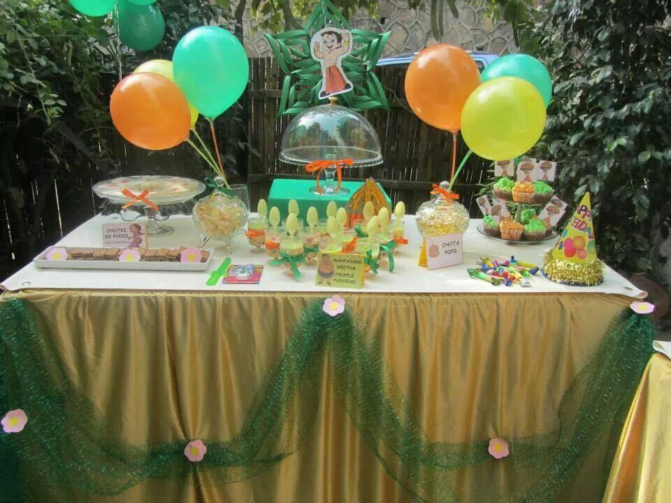 Chota Bheem Themed Party Syled By Polkadotcelebrations Com