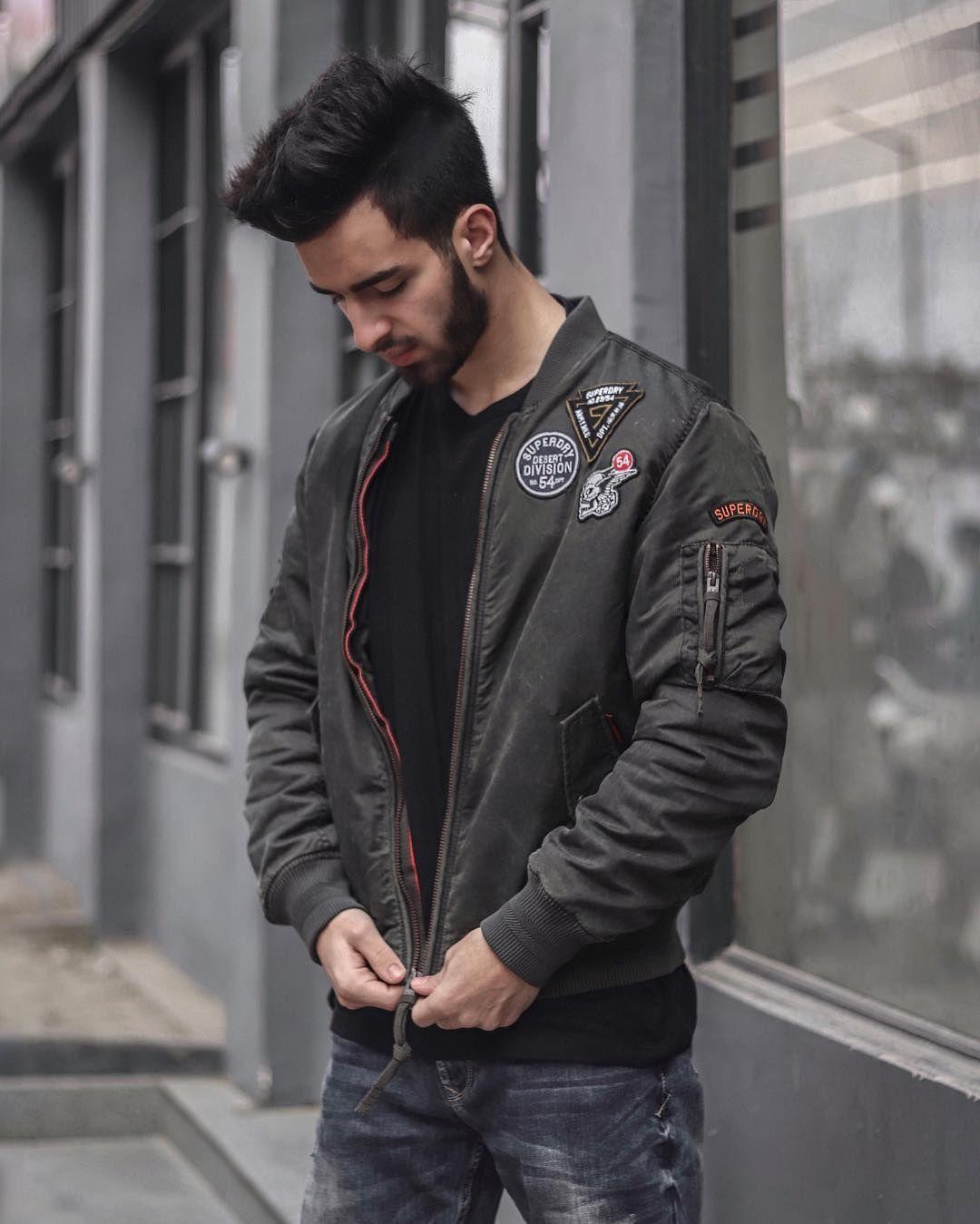 Stand Alone Style Malikasrar Mens Jackets Casual Bomber Jacket Men Flight Bomber Jacket [ 1349 x 1080 Pixel ]