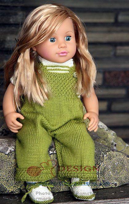 Gestrickte Puppenkleidung, schöne Kleidung für jeden Tag in grün und ...