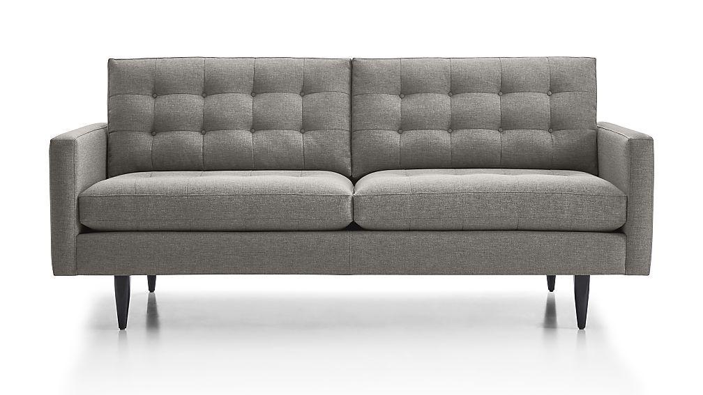 Petrie Midcentury Apartment Sofa Crate And Barrel Comfortable