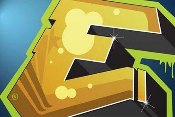 3d Graffiti Letter E Font Style | E | Graffiti letter e ...