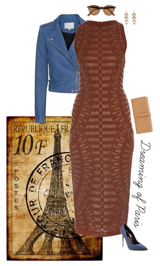 """""""Dreaming of Paris"""" by sophie-poualion on Polyvore featuring IRO, Balmain, Tom Ford, Ray-Ban and Irene Neuwirth"""