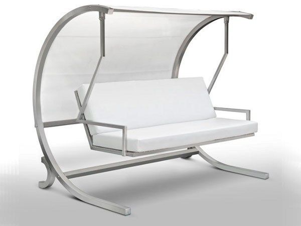 Stainless Steel Garden Swing Seat Dondolo By Cagis Design