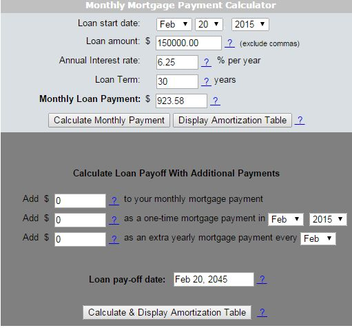 Find Your Monthly Mortgage Payment For More Information Please