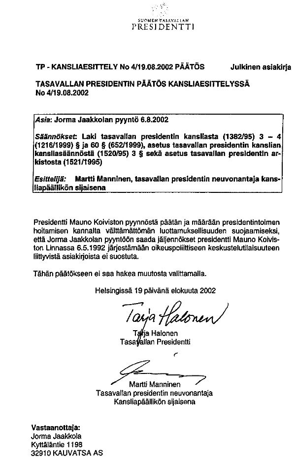 Koiviston konklaavi   Jorma Jaakkolan kotisivut