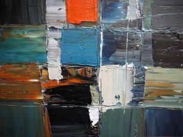 "Saatchi Art Artist Niki Hare; Painting, ""orangeblu 458"" #art"