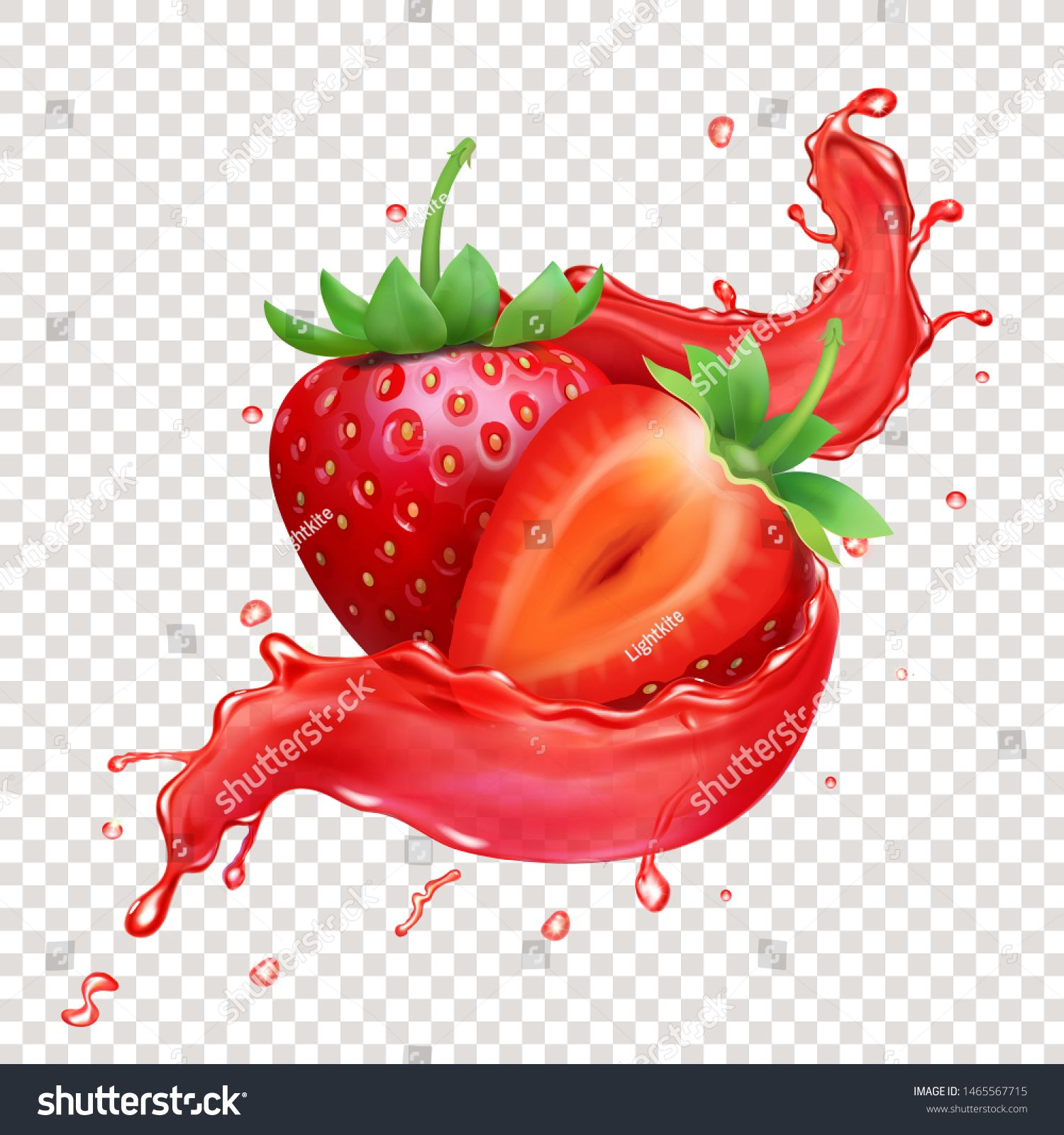 Strawberry 3d Realistic Transparent Splash Of Juice Royalty Free Images Vector Fruit Splash Strawberry Fruits Images