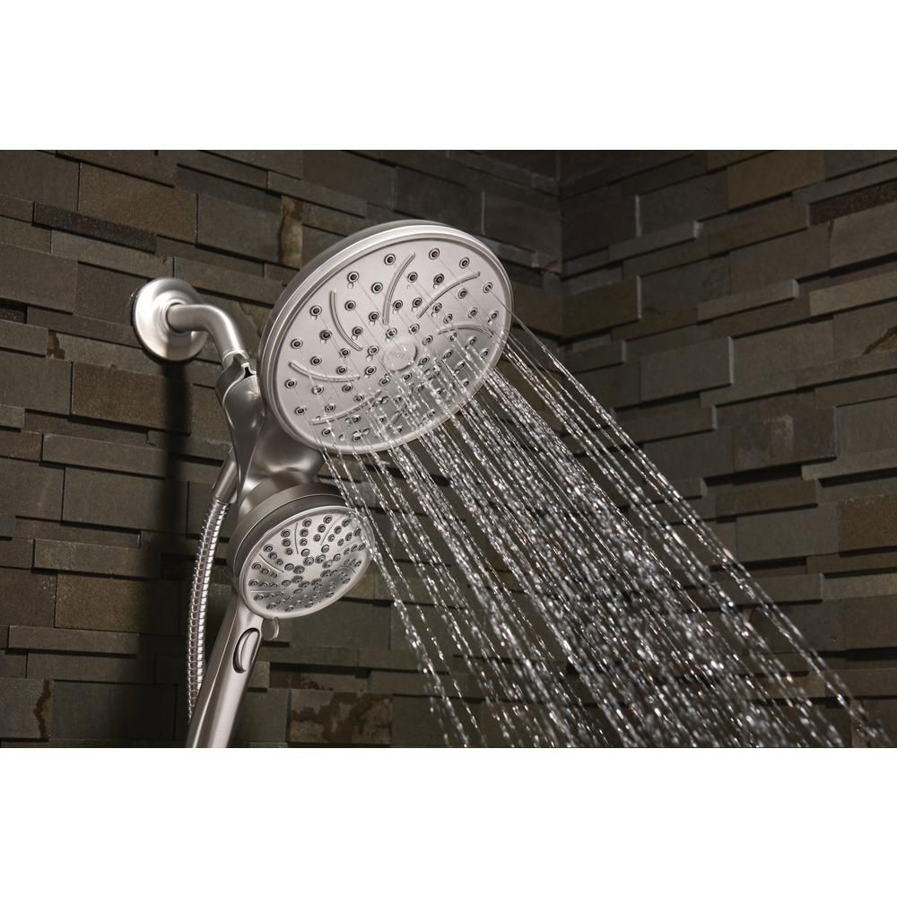 Moen attract 6spray hand shower and shower head combo kit