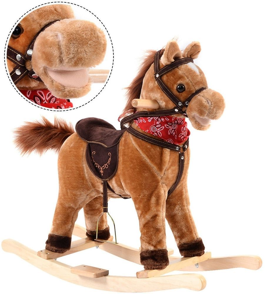 Children Classic Rocking Horse Rider Toddler Kids Toy Saddle Ride Gift W Song Classic Rocking Horse Kids Rocking Horse Nursery Rocker