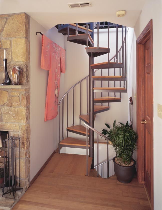 Metal spiral staircases and custom design staircases by for Spiral stair design