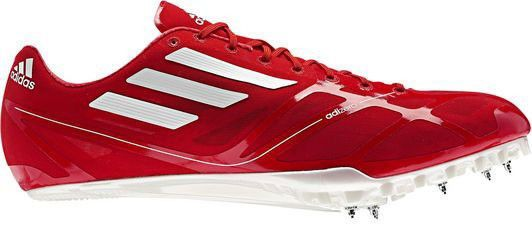 differently 665ef 82a3d New Mens ADIDAS AdiZero Prime Finesse Sprint Track Field Spikes Shoes Red  Orange