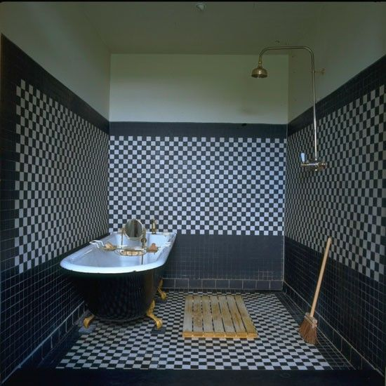 Baths Interior The Play On Clic Black And White Tiles