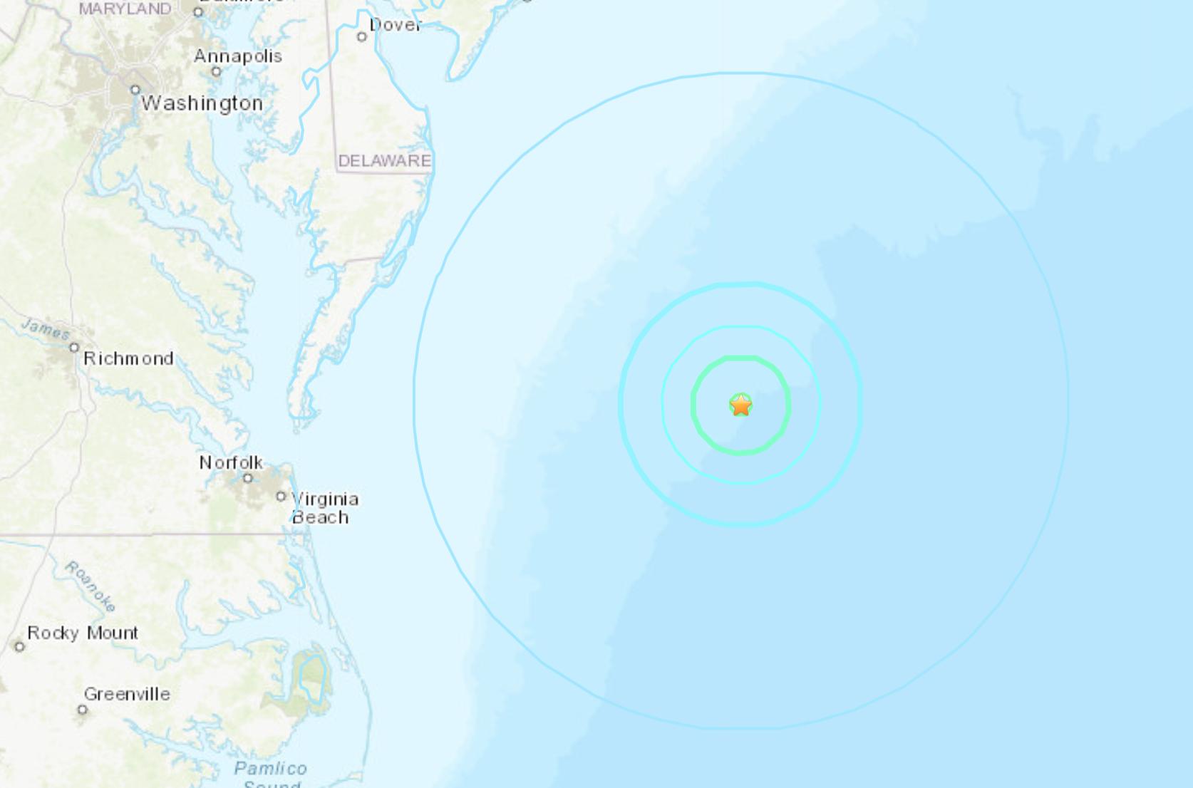 4 7 Magnitude Earthquake Reported Off Coast Of Ocean City